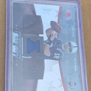 Peyton Manning Lot. Jersey card. Serial #d /50